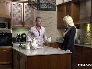 Horny Housewife Sienna Day Fucks Two Men In the Kitchen