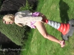 Horny blonde teen
