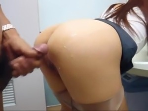 Sex scene in bathroom