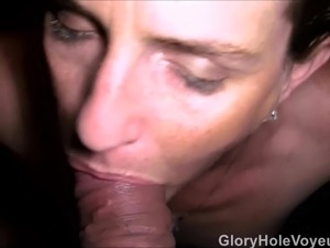 gloryhole mature sex slave