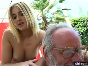 Girl having sex with old man
