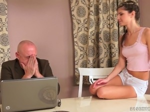 old man with little girl porn