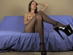 blonde blue eyes pantyhose sex