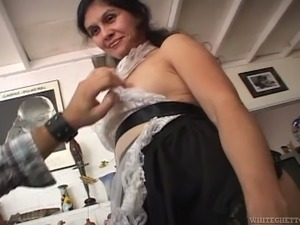 My personal big breasted masturbation maid