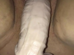 black pussy stretched by biggest dildo