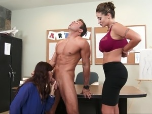 busty office girls fuck
