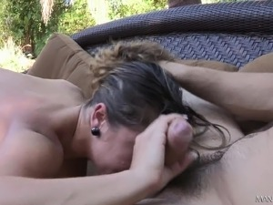 Slender girl with tiny boobs braces herself for a rough anal pounding