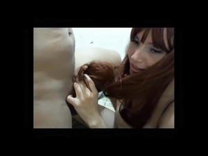 Sexy Redhead Hairjob and Cum in Hair, Long Hair, Hair