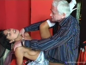 Old man sex with girl