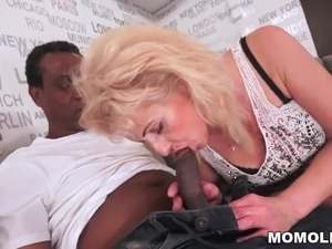 black guys girl threesome