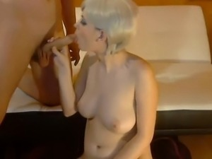 blond wife riding black dick