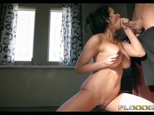 Hot Brunette MILF Loving that Younger Cock