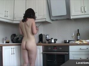 mature sex video on kitchen