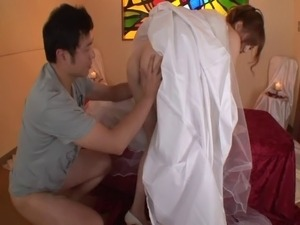 bride in weing night fuck video