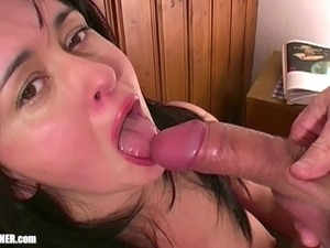 Cum swallowing fetish