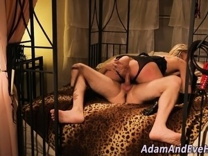 Submissive slut spermed