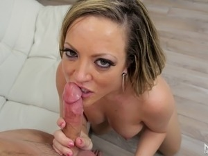 Codey's cock is exactly what Carmen needs inside her lusty mouth