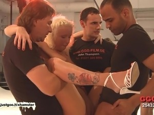 German girl getting fucked