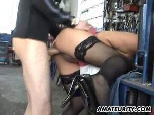 wife threesome in nylons