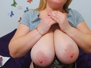blonde dildo in her pussy