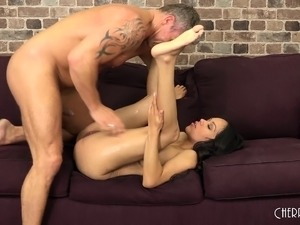 beautiful brunette sex video