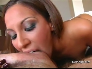 Fucked with cum on her face