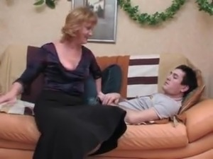 russian blonde mature pantyhose young guy