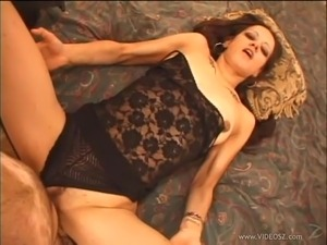 Compassionate brunette with long hair giving huge dick blowjob in pov shoot