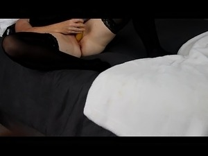 wife with dildo orgasm squirt