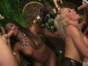 Yummy blond haired slut Cindy Behr participates in stout foursome scene