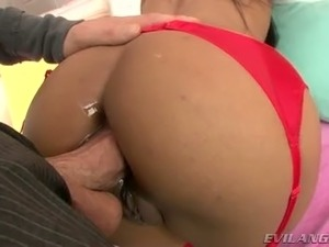 Big tit tight bitch fucked deep up her tight ass