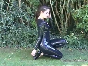 Sexy latex ass
