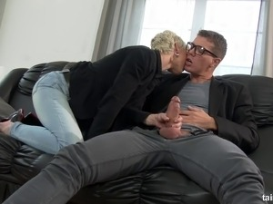 short hair blonde fuck video