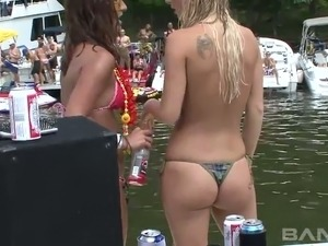Wanton petite GFs make fun with horny guys on the boat and are gonna enjoy...