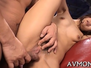 Milf oriental acquires fingered and screwed