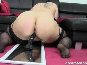 motorized dildo ride anal video