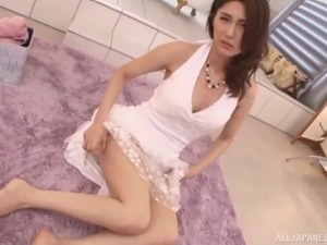 Lovely Japanese housewife makes her man's wishes comes true