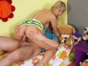 Teenyplayground - Naasty teen fuck suck & jerk off older guy