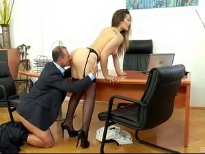 Oral sex in the office