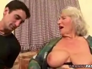 Grannies saggy tits