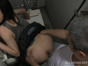 sick interracial porn toilet