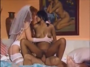 Married white couple sharing an Indian girl