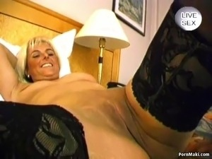 Blonde MILF Gives Blowjob