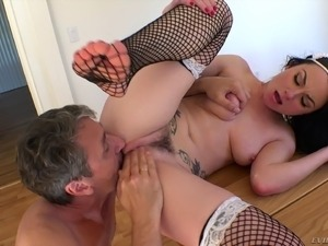 My own huge tit maid