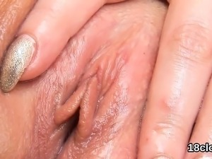 close up girl licking pussy