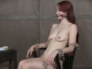 Hot and horny redhead Violet Monroe loves being gagged