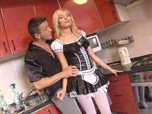 ebony teen maid