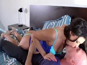Hot lesbian seducing the maid
