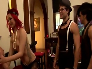 couples fucking at a swingers party