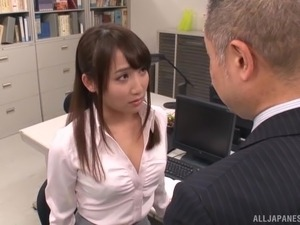 Japanese office worker wants to show off her sexual skills